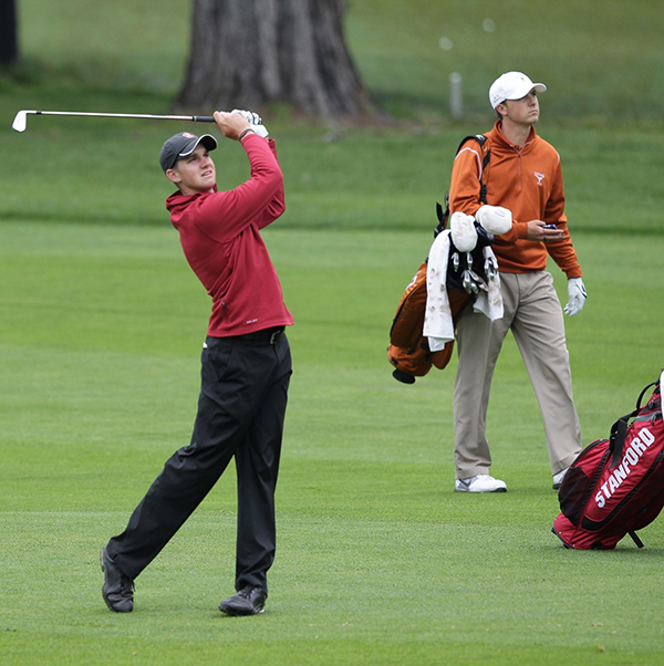 photo of Patrick Rodgers (Stanford) and Jordan Spieth (University of Texas)