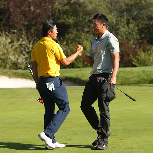 Collin Morikawa (Cal) and Norman Xiong (University of Oregon)